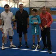 Mens doubles Finalists - Matt Thompson, Chris Bardoe - Oli and Matt Fernandez