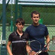 Mens singles Finalists - Oli Fernandez and Barry Carter