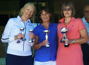 Ladies Doubles Finalists - Ann, Carol & Christine