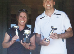 Mixed Doubles Winners - Natasha & Jon
